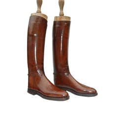 A Pair of Custom English Riding Boots. c1920s