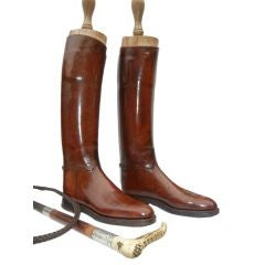 """An Officer and a Gentleman"" Custom Riding Boots &  Whip"