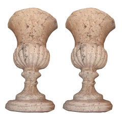 Pair, Wall Mounted French Stone Urns