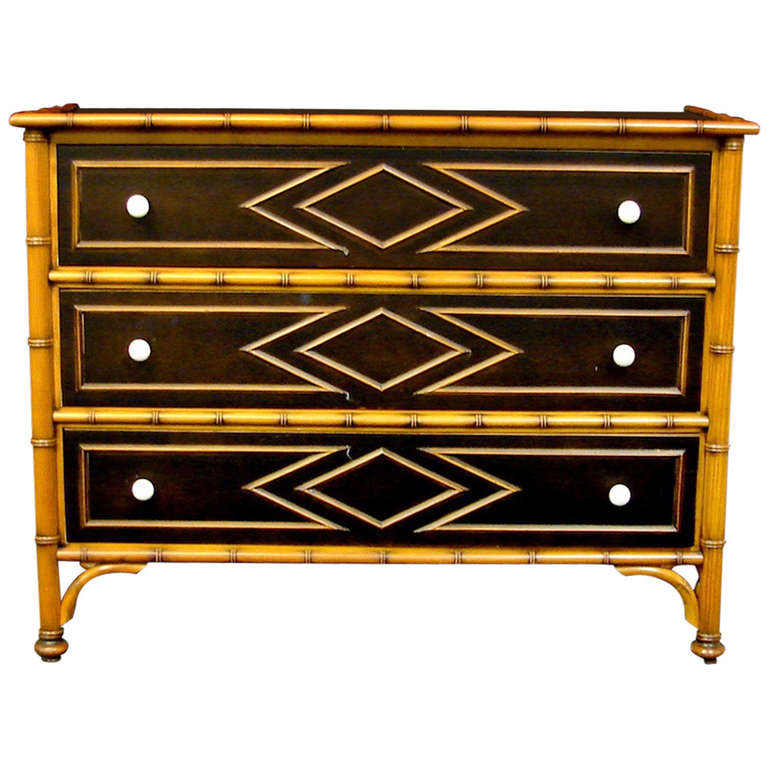 Plantation Style Faux Bamboo Dresser By Grange At 1stdibs