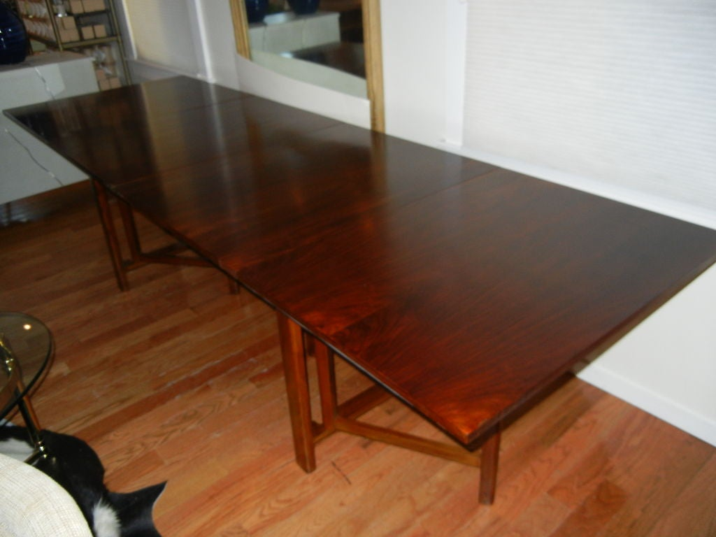 A magnificent folding gateleg table by bruno mathsson at 1stdibs - Folding gateleg table ...