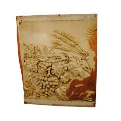 A Magnificent Vineyard Architectural Hand Carved Wall Plaque