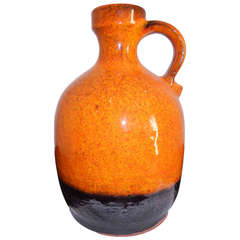 Hand Crafted Primitive Form Studio Pottery Vase, 1960s Germany.