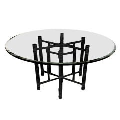 A  Classic  Reeded  Bamboo & Glass Table  by  McGuire