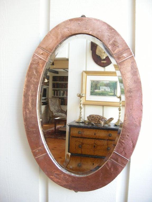 English, Arts & Crafts Movement Copper Mirror 2
