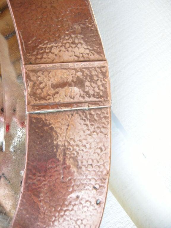 English, Arts & Crafts Movement Copper Mirror 4
