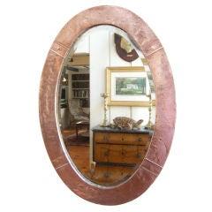 English, Arts & Crafts Movement Copper Mirror