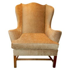 A Splendid  English Chinese Chippendale Style Wing Chair.