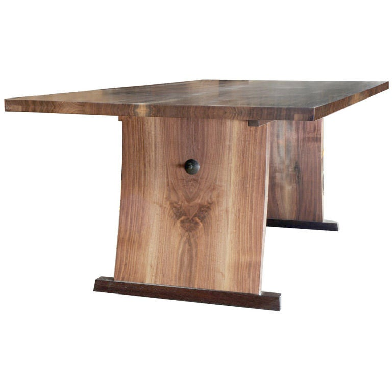 Lerner Dining Room Table by American Studio Craft Artist David N. Ebner For Sale