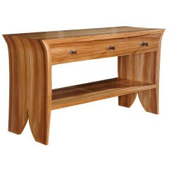 Zebra Wood Console by Studio Craft Artist David N. Ebner