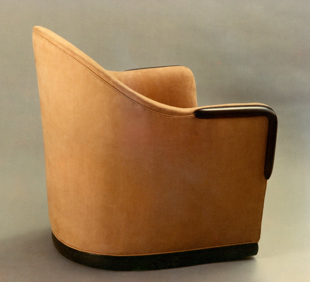 Swivel Barrel Chair by American Studio Craft Artist, David N. Ebner 3