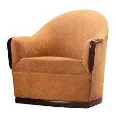 Swivel Barrel Chair by American Studio Craft Artist, David N. Ebner