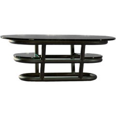 David N. Ebner Three-Tier Tubular Metal Coffee Table