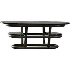 David N. Ebner Three-Tier Tubular Metal Coffee Table