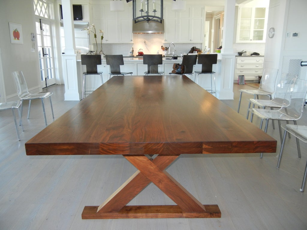 the bayberry walnut wood dining room table at 1stdibs