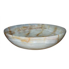 An Over sized Hand Crafted Onyx Bowl
