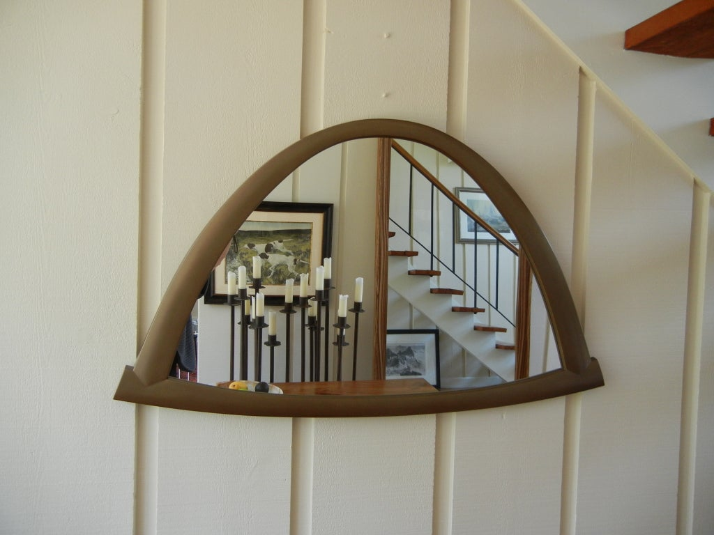 Hand-Crafted Wall Mirror by Studio Craft Artist David N. Ebner For Sale