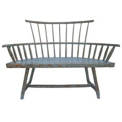 A Rare Antique Americana  Windsor Bench.