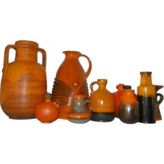 A Group of East & West German Studio Crafted Pottery Vases