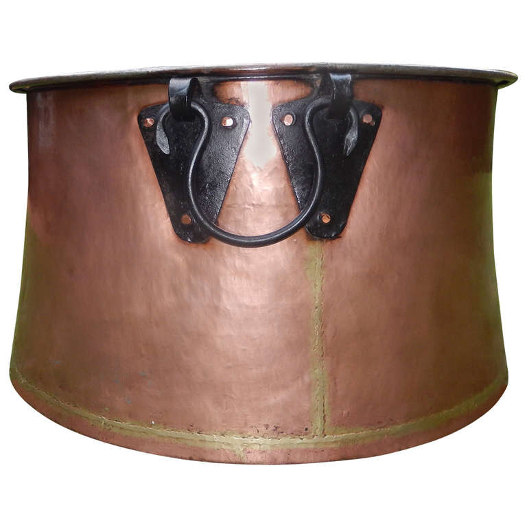 English massive hand forged copper brass and iron