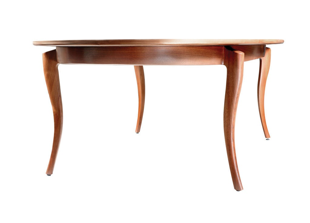 Beitel Dining Table by American Studio Craft Artist David N. Ebner In Excellent Condition For Sale In Bellport, NY