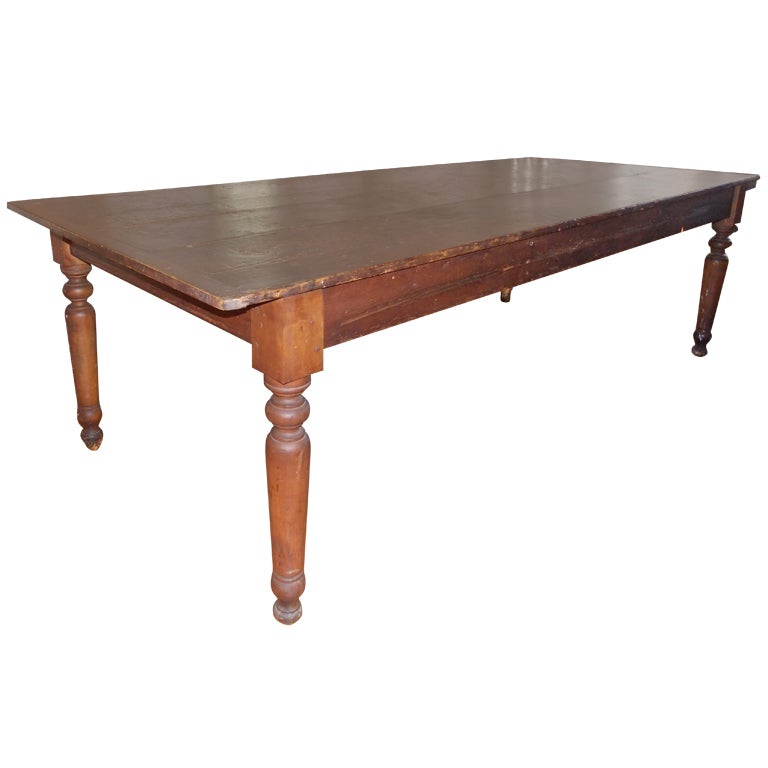 Americana antique large farm table dining room table at for Antique dining room tables