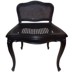 A French Painted Wood & Cane Vanity Chair.