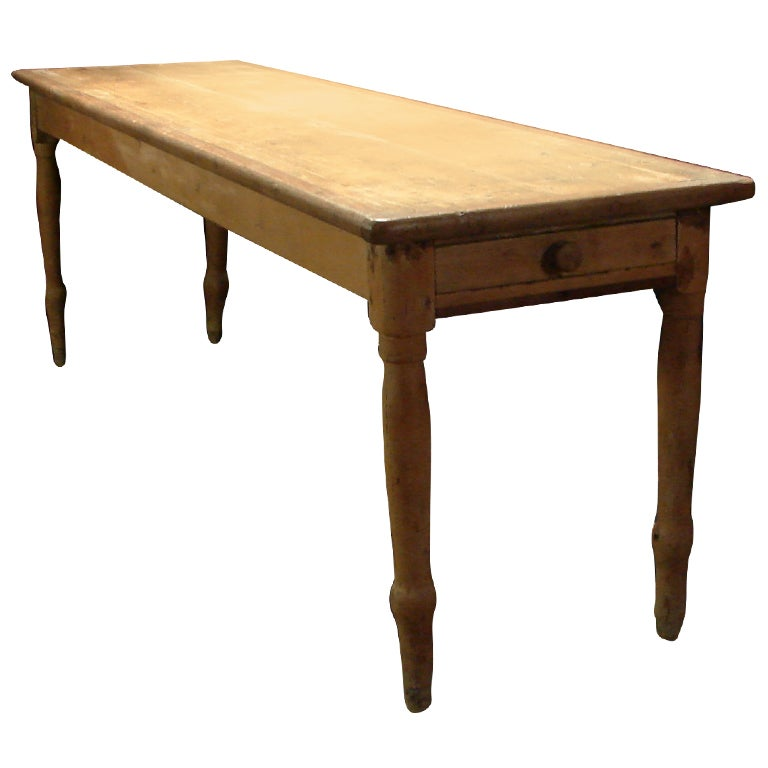 An Antique American Farm Console Table at 1stdibs