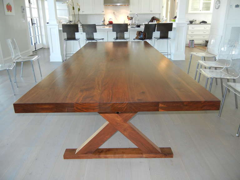 American Studio Crafted Dining Room Table or Desk For Sale