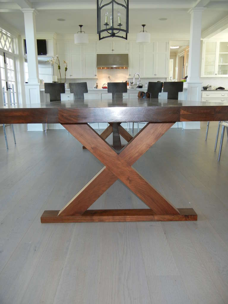Studio Crafted Dining Room Table or Desk In Excellent Condition For Sale In Bellport, NY