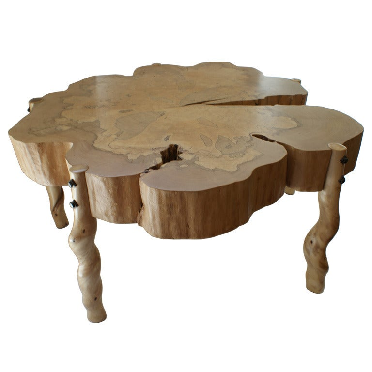 David N. Ebner, Spalted Maple Wood and Sassafras Coffee Table