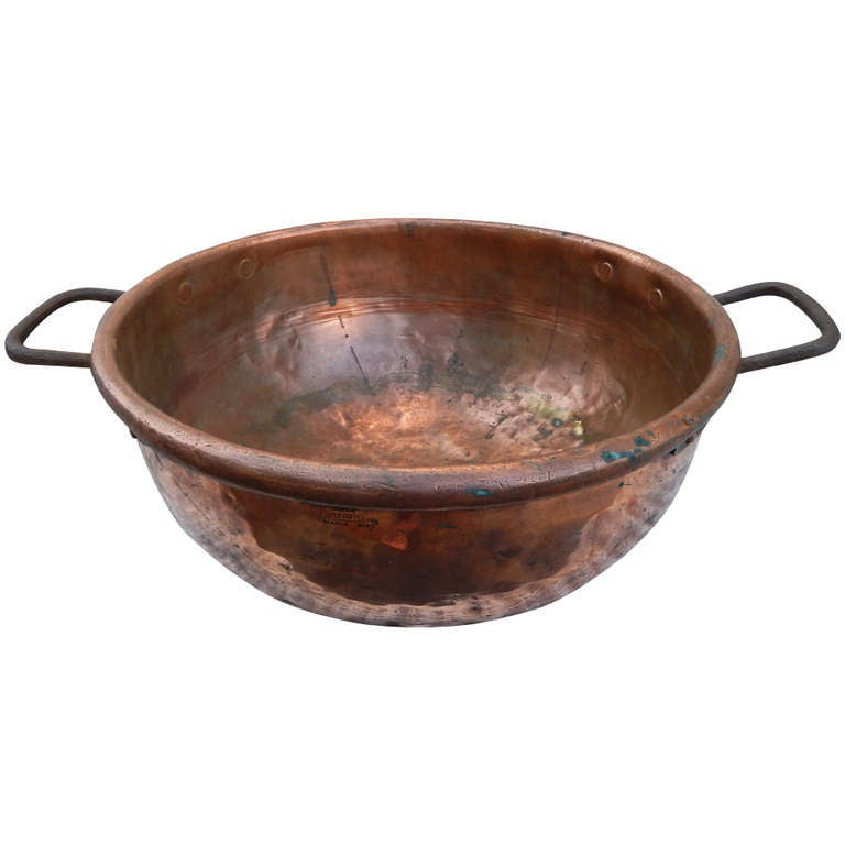 Antique primitive furniture - A Large American Antique Candy Copper Bowl At 1stdibs