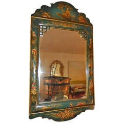 A Dutch China Trade Eglomise Chinoiserie Wall Mirror