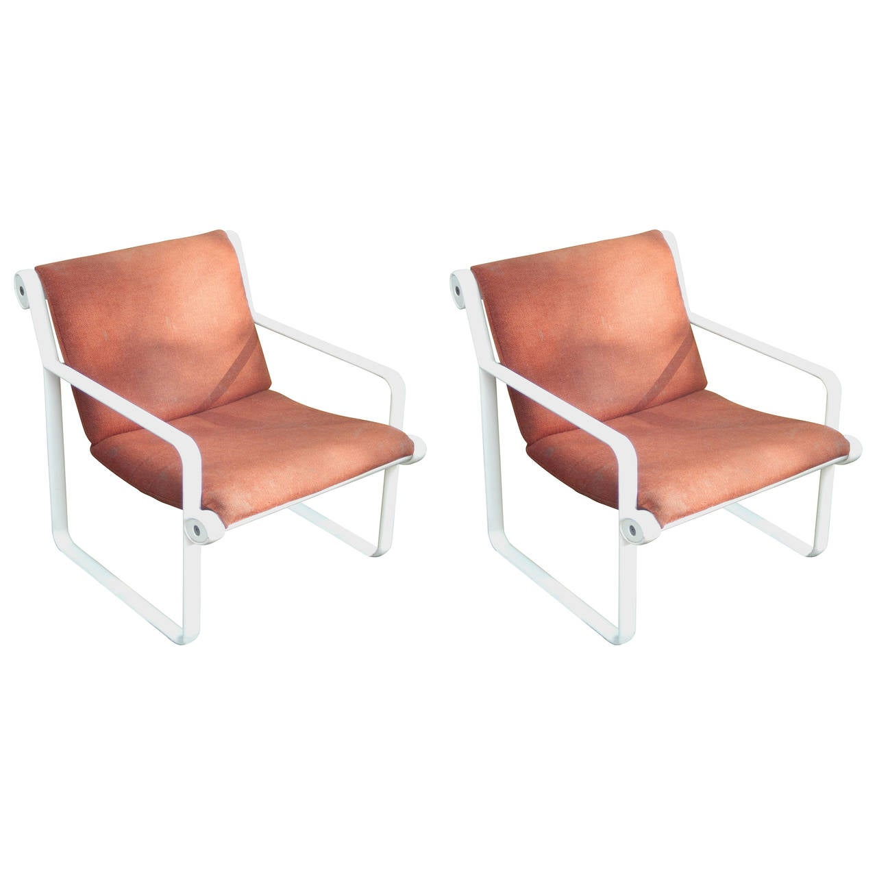 Pair Of Aluminum Hannah U0026 Morrison Sling Chairs For Knoll 1