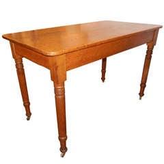 American Antique Oak Work Table