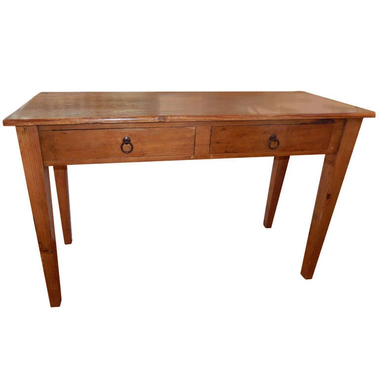 An American Antique Oak Console Table 1