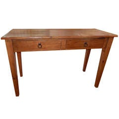An American Antique Oak Console Table