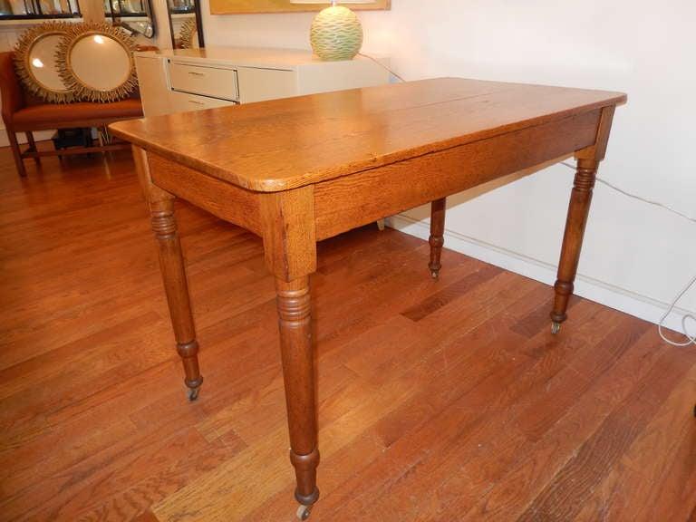 american antique oak work table for sale at 1stdibs. Black Bedroom Furniture Sets. Home Design Ideas