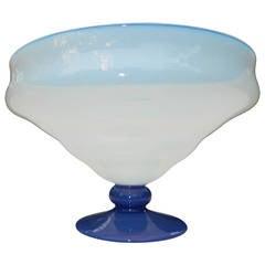 Venetian Art Nouveau Fluted Bowl