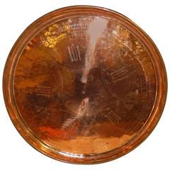 Massive Hammered Copper Vintage Tray