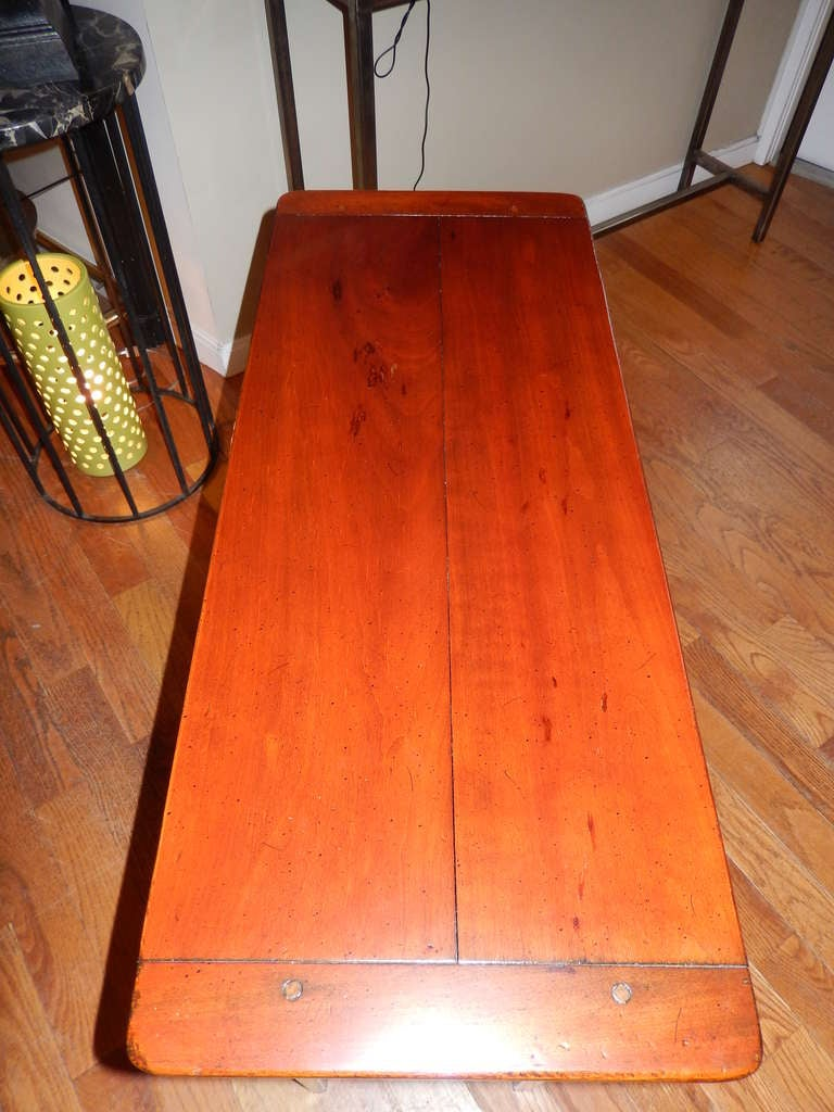 Custom Cherrywood and Ebony Console Table For Sale 1