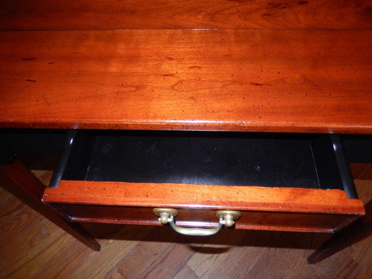 Custom Cherrywood and Ebony Console Table In Excellent Condition For Sale In Bellport, NY