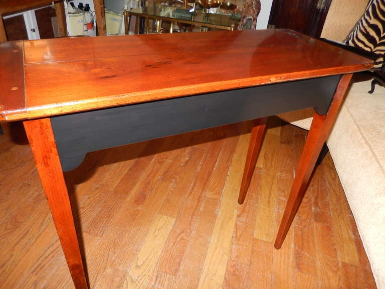 American Craftsman Custom Cherrywood and Ebony Console Table For Sale