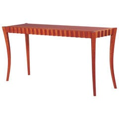 David N. Ebner Pomele and Sapele Wood Hall or Sofa Table