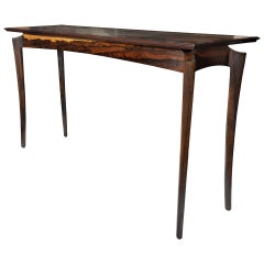 Ziricote Hall or Console Table by David N. Ebner