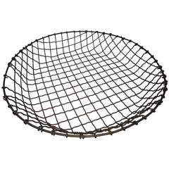 Large 19th Century Livestock Wire Basket, Long Island NY