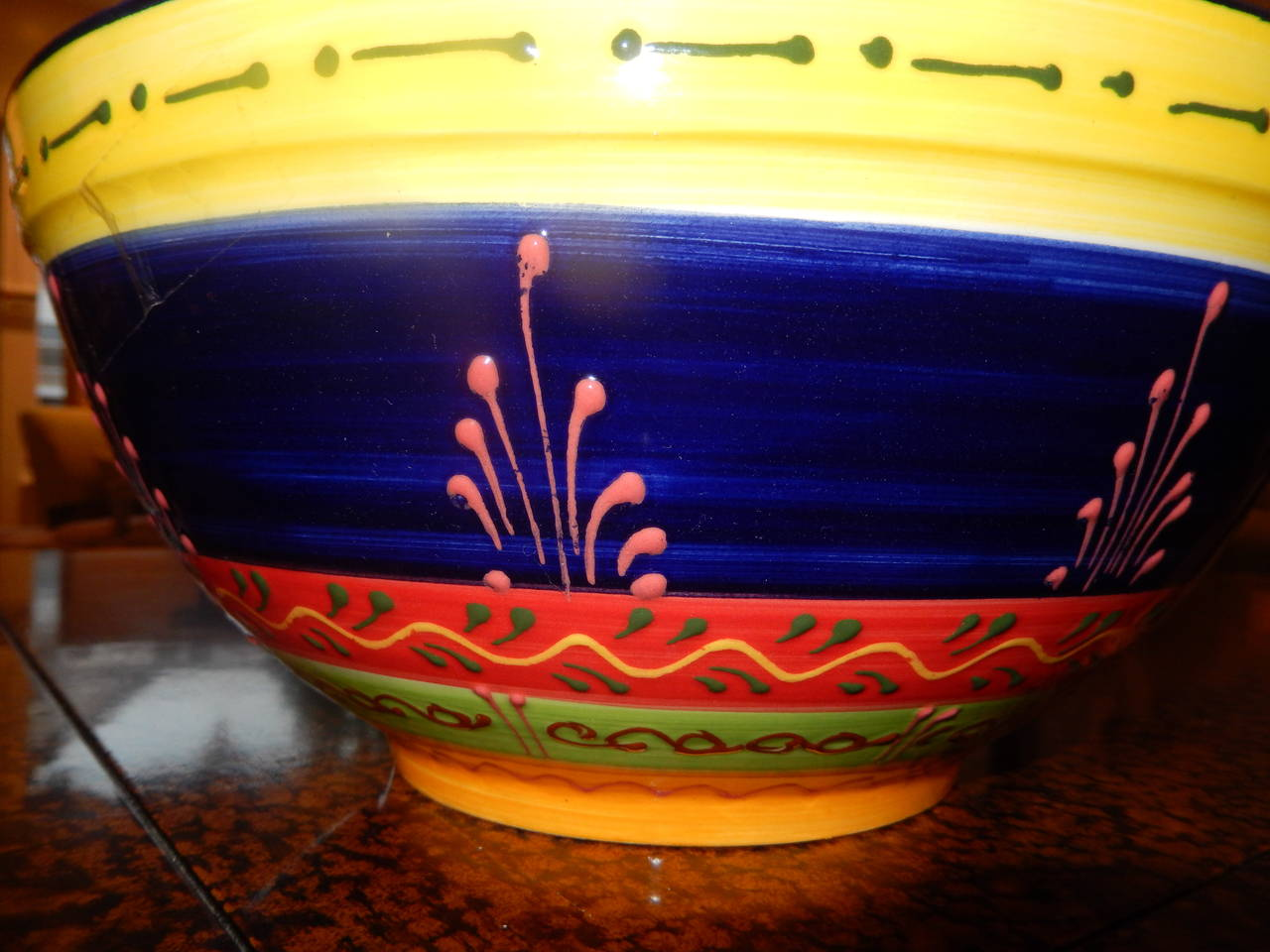 Studio Crafted Ceramic Colorful Bowl From Cordoba Spain At