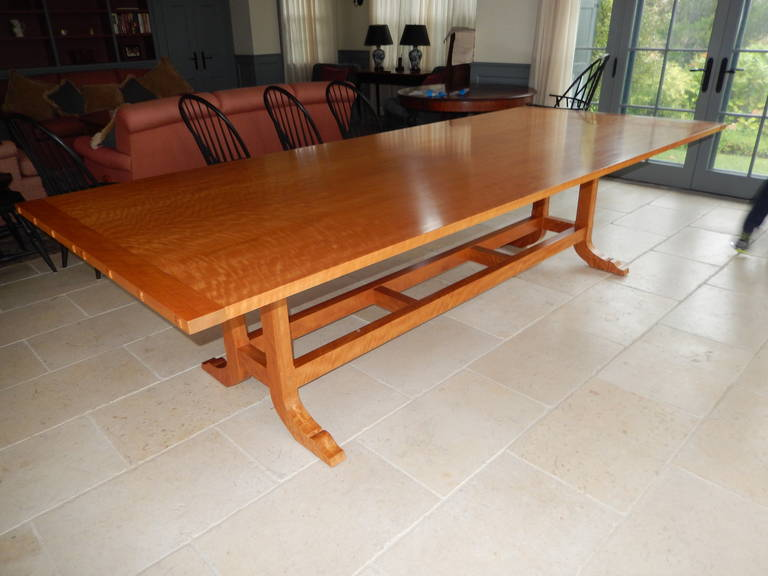 Contemporary David N. Ebner Makore Wood Dining Room or Conference Table,  For Sale