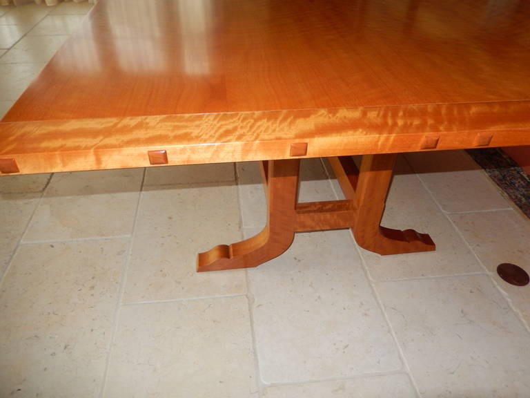 David N. Ebner Makore Wood Dining Room or Conference Table,  For Sale 1