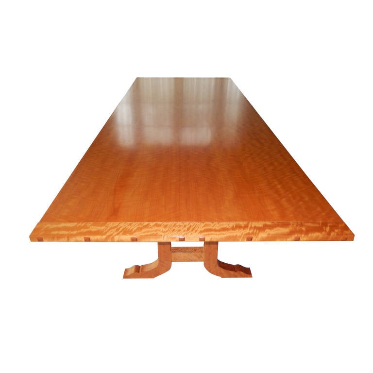 David N. Ebner Makore Wood Dining Room or Conference Table,  For Sale